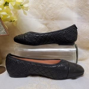 """Taryn Rose """"Reese"""" Leather Flats"""